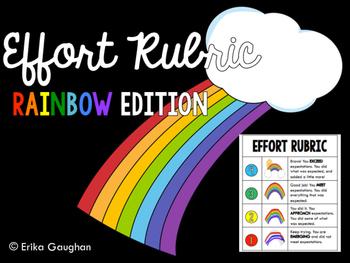 Effort Rubric - Rainbow Edition
