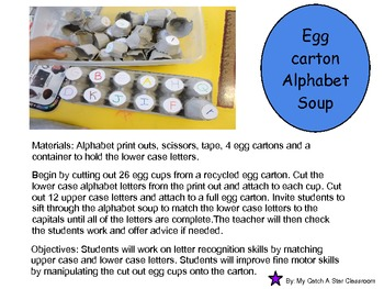 Egg Carton Alphabet Soup