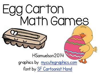 Egg Carton Math Stations