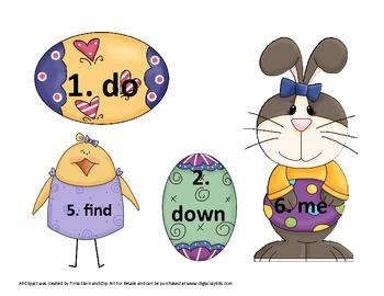 Egg-Citing Sight Word Center Activites