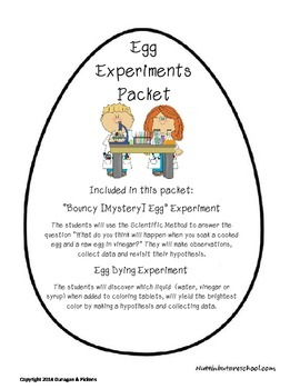 Egg Experiments Packet