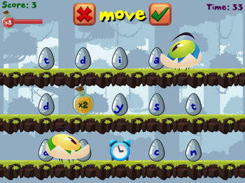 Egg Heads | Spelling Word Forming Game | Free at RoomRecess.com