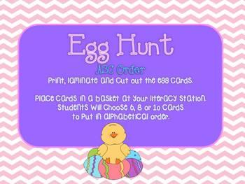 Egg Hunt {ABC Order} FREEBIE