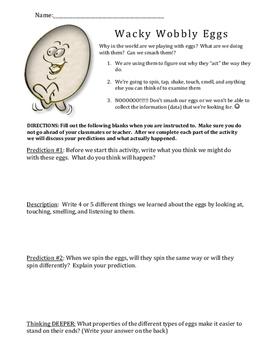 Egg Spinning Experiment Worksheet