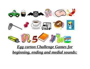 Egg carton Phonemic Awareness games