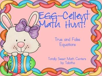 Egg-cellent Math Hunt- True and False Equations