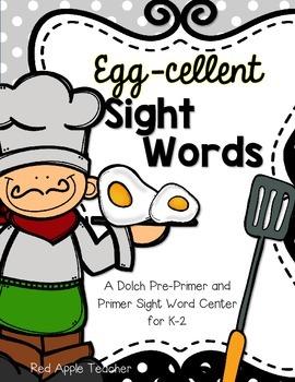 Egg-cellent Sight Words--Dolch Pre Primer and Primer Sight