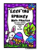 """Two-Digit Addition and Subtraction-""""Eggs""""tra Springy Math"""