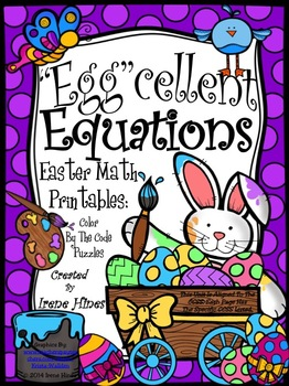 "Easter: ""Egg""cellent Equations ~ Math Printables Color By"