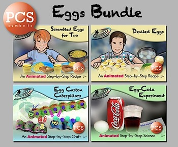 Eggs Bundle - Animated Step-by-Steps PCS Symbols