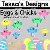 Easter Eggs & Chicks Clip Art