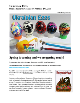 Eggs: The Ukrainain Way with Children's Book