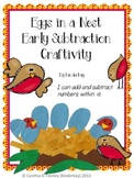 Eggs in a Nest Subtraction Craftivity