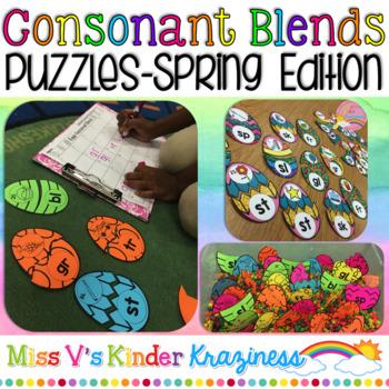 Eggy Consonant Blends: A Springtime Literacy Matching Activity
