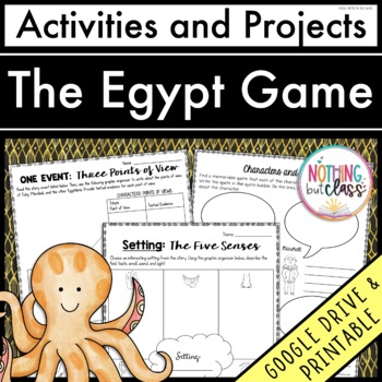 The Egypt Game: Reading Response Activities and Projects