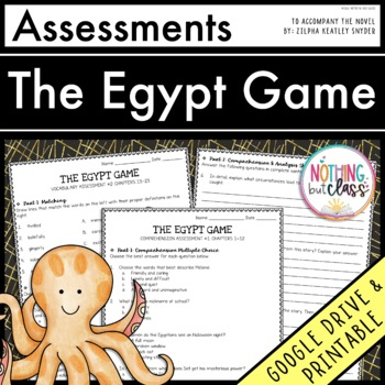 The Egypt Game: Tests, Quizzes, Assessments