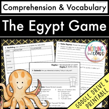 The Egypt Game: Comprehension and Vocabulary by chapter