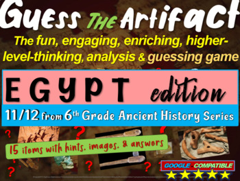 """Egypt """"Guess the artifact"""" game: engaging PPT with picture"""