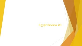 Egypt Quiz Review #1