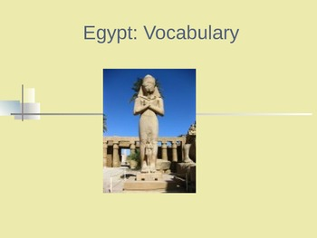 Egypt: Vocabulary PowerPoint