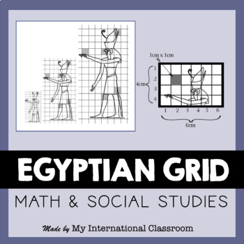 Egyptian Art Wall Painting Grid Lesson Plan, PowerPoint, H