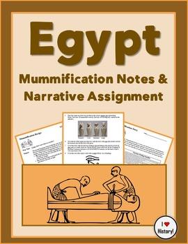Egyptian Mummificatation Recipe Notes & Narrative Writing