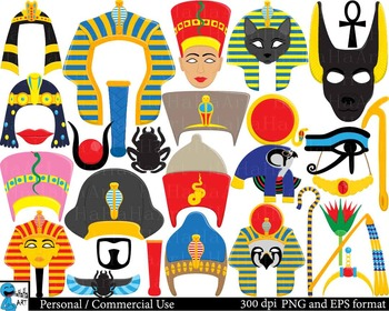 Egyptian Props - Clip Art Digital Files Personal Commercia