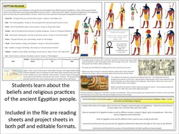 Egyptian Religion - Homework