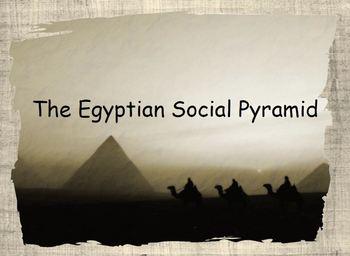 Egyptian Social Pyramid flip book with PowerPoint