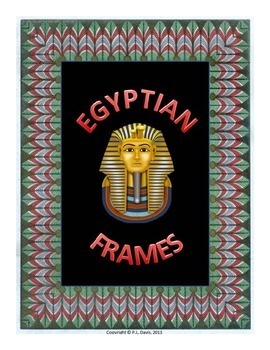 Egyptian Themed Frames Portrait Orientation