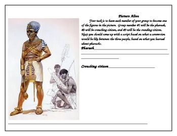 Egyptian pharaoh picture alive worksheet