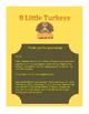 Eight Little Turkeys Poem and Puppets