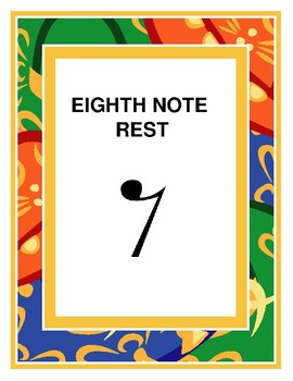 Eight Note Rest Poster