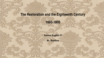 Eighteenth-Century and Restoration Introduction