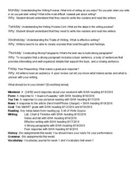 Eighth-Grade ELA/Social Studies Week 2
