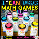 8th Grade Math Games BUNDLE - ALL Standards