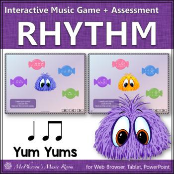 Eighth Notes Yum Yums - Interactive Rhythm Game (quarter n
