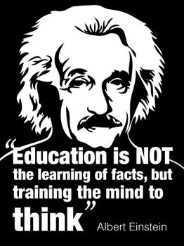 Einstein Inspirational Quote Poster - Wall Sized! 60x80 cm Huge!
