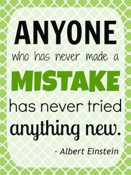 Einstein Mistake Quote Poster