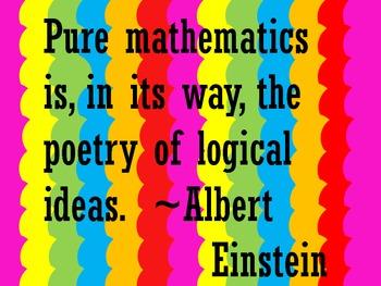 Einstein Quote About Math