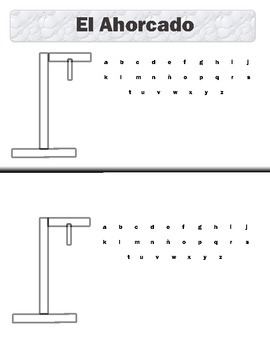 El Ahorcado (Hangman) Template