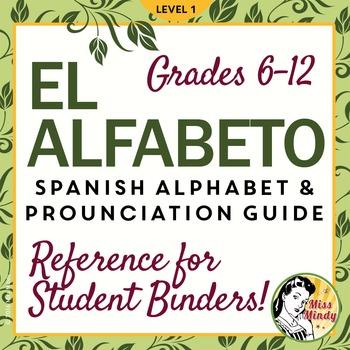 El Alfabeto Spanish Alphabet Pronunciation Guide /Student