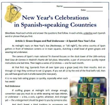 El Año Nuevo: New Year's in Spanish-speaking Countries Rea