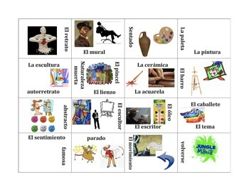 El Arte- Vocabulary Puzzle