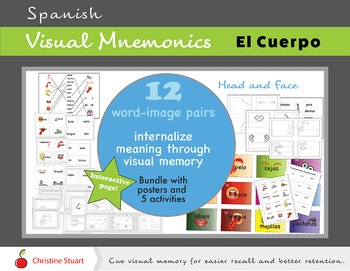 El Cuerpo Spanish Visual Mnemonics and activity pack