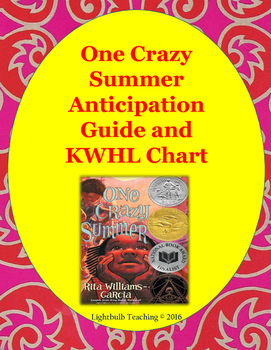 One Crazy Summer Anticipation Guide and KWHL Chart