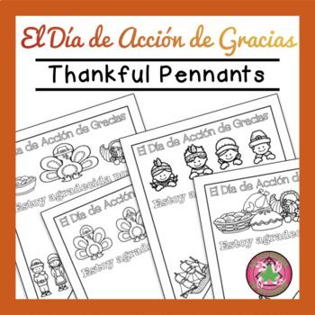 El Día de Acción de Gracias Pennant (Thanksgiving Pennant)