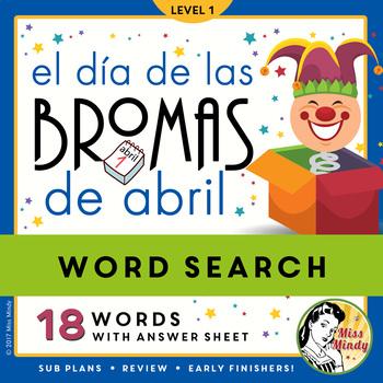 El Día de Las Bromas de Abril Spanish April Fool's Day Wor