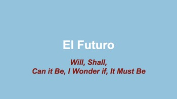 El Futuro, The Future Tense in Spanish