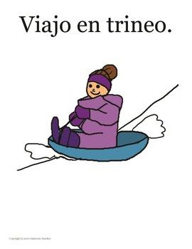 El invierno cuento - ropa, tiempo, actividades - leer, dib
